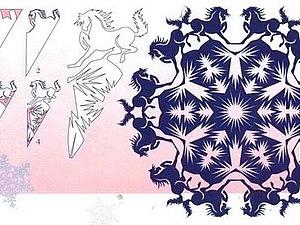 Снежинки на стекле | Ярмарка Мастеров - ручная работа, handmade