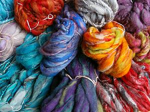 Арт-пряжа ручного прядения для валяния в продаже | Ярмарка Мастеров - ручная работа, handmade