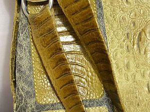 Шьем кожаную сумку. Ярмарка Мастеров - ручная работа, handmade.