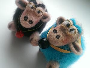 Создаем забавных барашков из шерсти. Ярмарка Мастеров - ручная работа, handmade.
