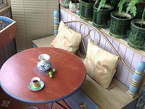 Декорируем старый стол, или Оформляем летнюю веранду в городской квартире. Ярмарка Мастеров - ручная работа, handmade.