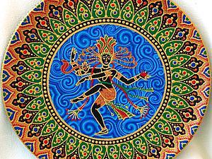 Мастер-класс по точечной росписи: тарелка-панно «танцующий Шива». Ярмарка Мастеров - ручная работа, handmade.