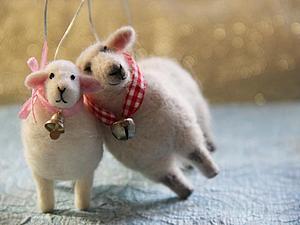 Подготовка к Новому году: валяем очаровательных овечек. Ярмарка Мастеров - ручная работа, handmade.