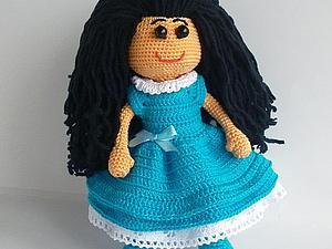 Скромная восточная красавица - новая вязаная кукла! | Ярмарка Мастеров - ручная работа, handmade
