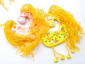 Веселые новогодние лошадки | Ярмарка Мастеров - ручная работа, handmade