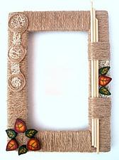 Этно-рамка своими руками. Ярмарка Мастеров - ручная работа, handmade.