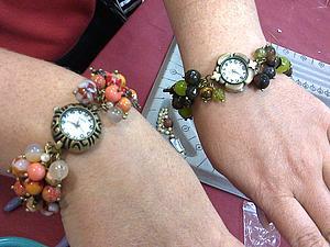 Мастер-класс «Часы на браслете из натуральных камней» - теперь со скидкой 20%!!! | Ярмарка Мастеров - ручная работа, handmade