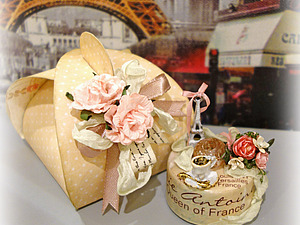 МК: Миниатюрный подарок на основе светодиодной свечи | Ярмарка Мастеров - ручная работа, handmade