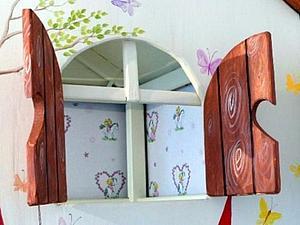 Декорируем деревянный детский домик. Ярмарка Мастеров - ручная работа, handmade.