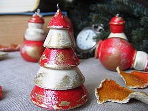 Стильно, красиво и Недорого! Декор елочных украшений.. Ярмарка Мастеров - ручная работа, handmade.