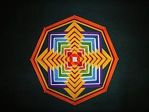 «Божье око», или Плетем мандалу. Ярмарка Мастеров - ручная работа, handmade.