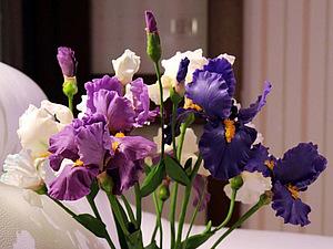 Создаем цветок ириса из полимерной глины. Ярмарка Мастеров - ручная работа, handmade.