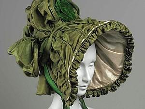 Женская шляпка XIX века. Море лент, цветов и фантазии | Ярмарка Мастеров - ручная работа, handmade