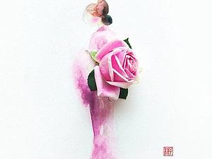 Рисунки из акварели и цветов   Ярмарка Мастеров - ручная работа, handmade