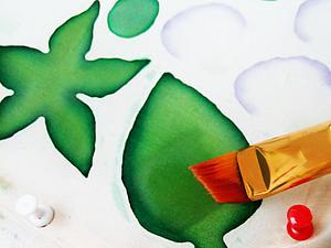 Вариант росписи лепестков и листьев в русской технике цветоделия. Ярмарка Мастеров - ручная работа, handmade.
