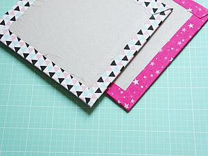 How to make neat corners on the cover from fabric