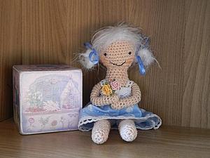 Вяжем куколку крючком вместе (без схемы). Ярмарка Мастеров - ручная работа, handmade.