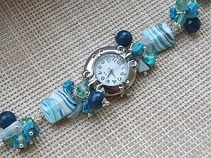 """Уникальный мастер-класс """"Часы на браслете из натуральных камней"""" - побалуйте себя обновкой! - Ярмарка Мастеров - ручная работа,"""