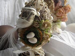 Декорирование Пасхального яичка в винтажном стиле. Смешанная техника.  handmade
