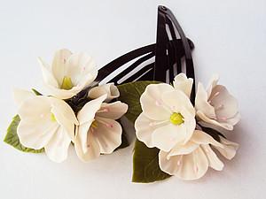 Яблоневый цвет из самозастывающей пластики. | Ярмарка Мастеров - ручная работа, handmade