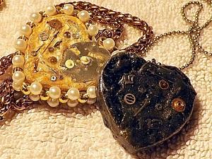 Кулон-сердце в стиле Steampunk Ко Дню Всех Влюбленных. Ярмарка Мастеров - ручная работа, handmade.