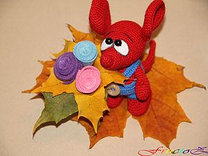 Осенний мышонок Сеня))) | Ярмарка Мастеров - ручная работа, handmade