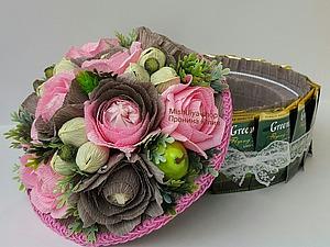 Торт-шкатулка из чая и конфет | Ярмарка Мастеров - ручная работа, handmade