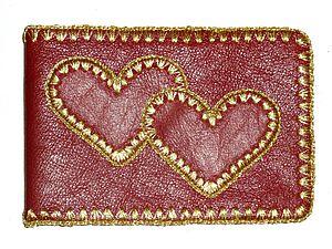 """Визитница из натуральной кожи """"LOVE..."""". Ярмарка Мастеров - ручная работа, handmade."""