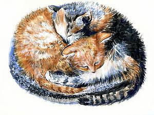 Новая репродукция с милыми котиками! | Ярмарка Мастеров - ручная работа, handmade