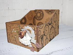 Винтажный короб для открыток. Основы картонажа   Ярмарка Мастеров - ручная работа, handmade