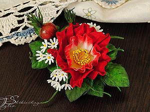 Новинка нашей студии! Цветы из фоамирана: Шиповник! | Ярмарка Мастеров - ручная работа, handmade