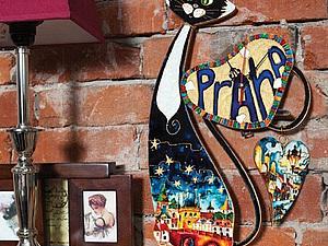 МК по витражной росписи «Эффект эмали. Пражский Кот»   Ярмарка Мастеров - ручная работа, handmade