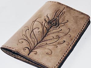 Делаем обложку на паспорт «Перо». Ярмарка Мастеров - ручная работа, handmade.