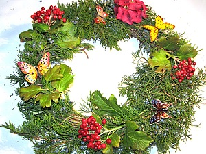 Рождественский венок .. Ярмарка Мастеров - ручная работа, handmade.