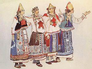 Русский костюм в эскизах художника Виктора Васнецова к опере Н.А.Римского-Корсакова
