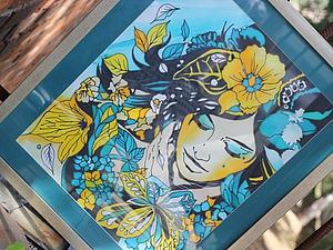 Мастер-класс «Все краски Японии» Пишем картины на шелке. | Ярмарка Мастеров - ручная работа, handmade