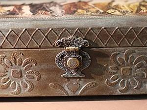 Ларец - шкатулка. Имитация бронзы. | Ярмарка Мастеров - ручная работа, handmade