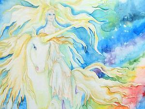 Легенда о Деве и белом Единороге. У меня новоселье, первый пост. | Ярмарка Мастеров - ручная работа, handmade