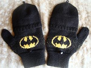 "Перчатки-трансформер ""Бэтмен"".. Ярмарка Мастеров - ручная работа, handmade."