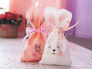 Шьем мешочек в виде пасхального кролика | Ярмарка Мастеров - ручная работа, handmade