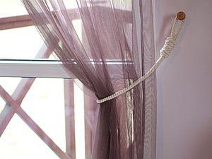 Легко и просто делаем держатели для штор. Ярмарка Мастеров - ручная работа, handmade.