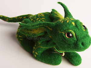Мастер-класс по Валянию Дракона с Узорами   Ярмарка Мастеров - ручная работа, handmade
