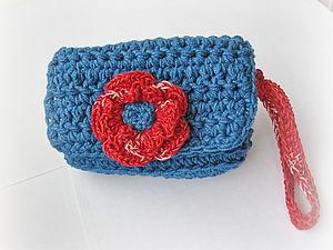 МК Вязаный цветок 3D без обрыва нити | Ярмарка Мастеров - ручная работа, handmade