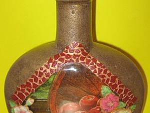 Декорируем бутылочку «Яблочный домик». Ярмарка Мастеров - ручная работа, handmade.