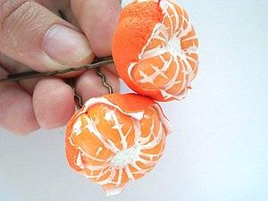 Лепим мандарины из полимерной глины | Ярмарка Мастеров - ручная работа, handmade