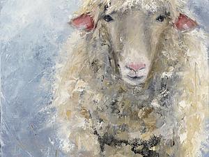 А вот и овечка подсохла | Ярмарка Мастеров - ручная работа, handmade