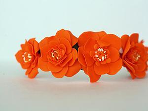 Видео мастер-класс: обруч с цветами из полимерной глины. Часть вторая. Ярмарка Мастеров - ручная работа, handmade.