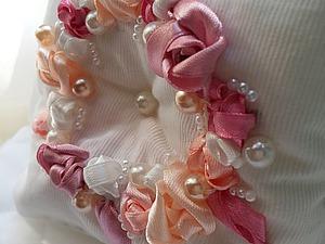 Изготовление свадебной подушечки для колец. Ярмарка Мастеров - ручная работа, handmade.