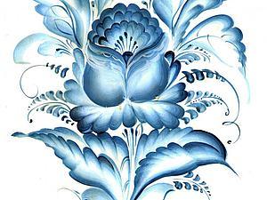 Видеоурок: роспись фарфоровой тарелочки «под гжель». Ярмарка Мастеров - ручная работа, handmade.