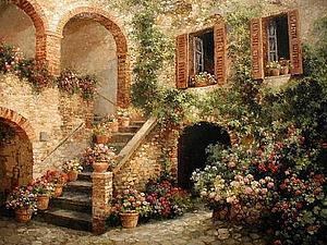Итальянский дворик | Ярмарка Мастеров - ручная работа, handmade